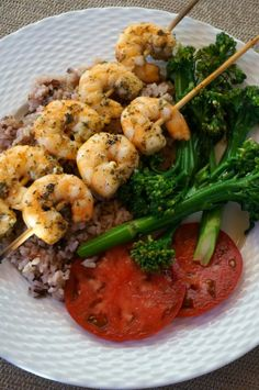 light and easy grilled shrimp meal
