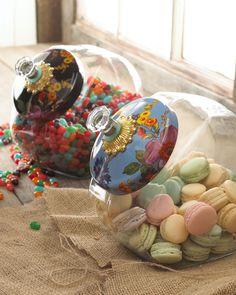 """MacKenzie-Childs  """"Flower Market"""" Cookie Jar"""