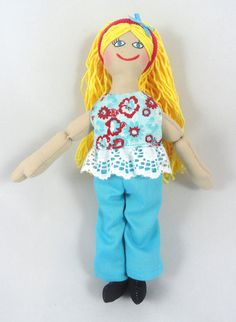 Blonde Dress Up Doll  Toy Doll by JoellesDolls on Etsy