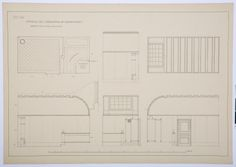Drawing of the century bathroom in the Hallwyl museum, Sweden. Sweden, 19th Century, Floor Plans, Museum, Construction, How To Plan, Bathroom, Drawings, Building