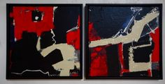 Geology 2 - Geological study by Uxbridge Ontario painter & photographer Max Marian Kalin Dimensions: 2 paintings each x Materials: Acrylic on Canvas, framed Uxbridge Ontario, Abstract Paintings, Geology, All Art, Online Art, Study, Shapes, Canvas, Frame