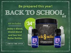 Great deal on essential oils for back to school!  Limited time!  SparkNaturals.com  Use coupon code PINTERESTINSPIRATION for 10% off every order!