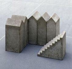 Hubert Kiecol, Fünf Häuser mit Treppe, 1984