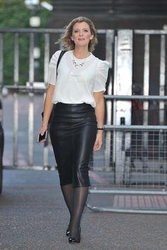 Jane Danson outside ITV Studios