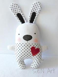 Diy Teddy Bear, White Teddy Bear, Bunny Toys, Bunny Plush, Rosalie, Softie Pattern, Sewing Toys, Stuffed Toys Patterns, Pdf Sewing Patterns
