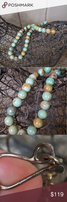 DTR Jay King necklace Beautiful green and brown turquoise beaded necklace by Jay King. I added sterling silver chain on both sides so it can be worn shorter or longer up to 25' inches. Please see all pics for measurements and weight. Jay King Jewelry Necklaces