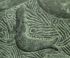a fish-man in a sea from a bas-relief in the palace of the Assyrian king Sargon II, ca. 721-705 BCE