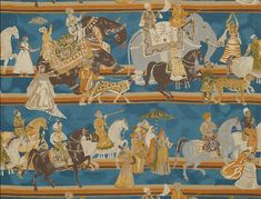 Wedding Parade by Jim Thompson Fabrics London Decor, Jim Thompson Fabric, Textile Texture, Textiles, Indore, Indian Home Decor, Fabric Wallpaper, Asian Art, Textures Patterns