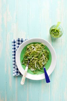 Arugula Pesto and Spaghetti