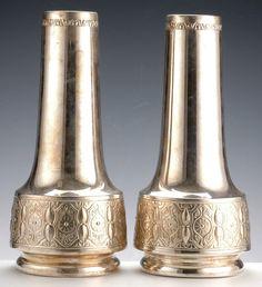 1930 WMF Art Deco - silvered vases - Tiroche