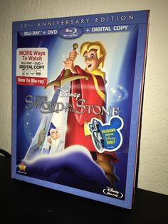 Disney The Sword in the Stone Blu-Ray/DVD/Digital w EXTREMELY RARE OOP SLIPCOVER