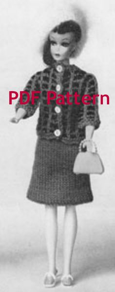 Love it when then bundle patterns together for us. This is a great deal. 4 Vintage 1963 Barbie and Ken Suits Knit Patterns.  by BubbleGumInTheMail on Etsy, $5.00