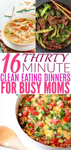 16 30-minute Clean Eating Dinners For Busy Moms | Today we are looking at 16 clean eating dinners that'll take 30 minutes to make. It's nice to have some quick and easy clean eating recipes like these that you can refer back to. These healthy meals take 30 minutes so you can enjoy the rest of your night full and satisfied. #xokatierosario #cleaneatingdinnerrecipes #healthymeals #30minuterecipes