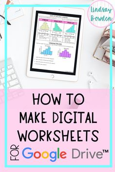How to Make Digital Worksheets - Lindsay Bowden Lista com dicas e tutorias de: , Teaching Technology, Educational Technology, Educational Crafts, Google Classroom, People Reading, Online Classroom, Classroom Decor, Teacher Hacks, Teacher Binder