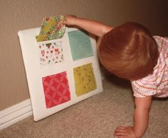 Peek a boo board--use this idea and make into a book for a 2 - 4 year old Operation Christmas Child shoe box.