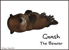 "Here is another look at one of our main characters for ""Tinies of Raglan Shire"" project, and again, very soon we'll be letting you all see our first animated short which is now finished DUN DUN DUNNN...   Today's Tiny is Gnash the Beaver. He's a woodworker (duh Beaver!) and like Snugz the cat, is a talented tinkerer which explains why they get along famously. Gnash is pretty awesome and very aloof. He's to cool for school but in a quiet way. He's wry and acerbic yet always helpful."