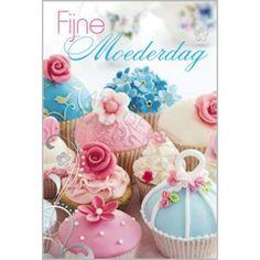 Fijne Moederdag - cupcakejes | Muller wenskaarten