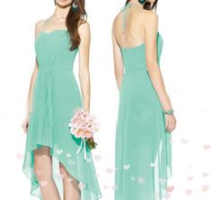 Sexy Sweetheart Harlter High Low Bridesmaid Dresses 273 A-Line Wedding Dresses | Buy Wholesale On Line Direct from China