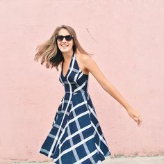 Plaid Halter Dress #Anthropologie #MyAnthroPhoto