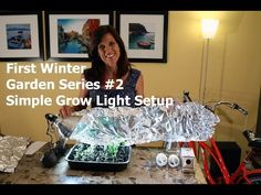 First Winter Garden #2- simple grow light set up to grow food indoors when its too cold to grow outside.