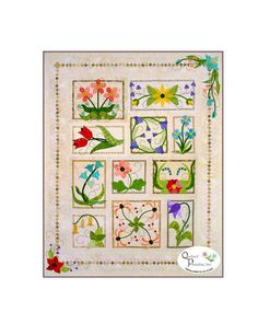 Quilter's Paradise Flower Box Medley Applique Quilt Pattern by BeaverheadSupplies on Etsy https://www.etsy.com/listing/168980954/quilters-paradise-flower-box-medley