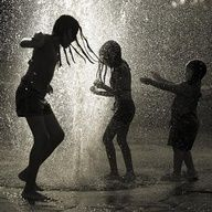 When you were a kid nothing was better than jumping in rain puddles!   I LOVE doing this:)