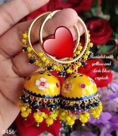 Gold Hoop Earrings, Gold Hoops, Stud Earrings, Indian Earrings, Blue Crystals, Christmas Bulbs, Hand Painted, Pearls, Alex And Ani Charms