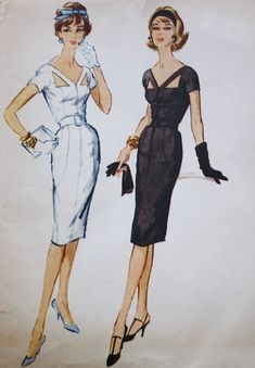 1950's McCalls B-4 Estevez Design Dress by BluetreeSewingStudio