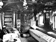 STATE CAR: The main saloon of the rail car built in 1891 to convey the Governor to Moss Vale, thence on to Hillview by Road.