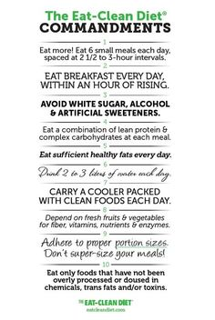 I love! When people ask me what is Eating clean I wish I could just hand them this!