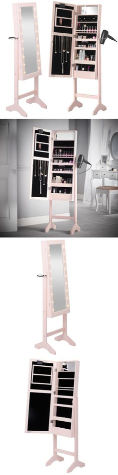 MultiPurpose 168165 White Mirror Jewelry Armoire Cabinet Wall Door
