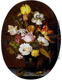 "Balthasar van der Ast ""Flowers in a Vase and Insects"""