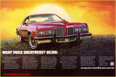 1977 Pontiac Grand Prix - it is such an ugly car, but it was my first and it got me everywhere!!!