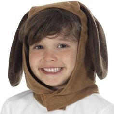 puppy costume for kids | childrens dog hood for fancy dress costume boys or girls puppy dog wit ...