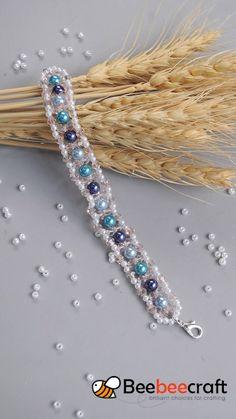 idea on making with beads - DIY Schmuck Handmade Beaded Jewelry, Beaded Jewelry Patterns, Bracelet Patterns, Beading Patterns, Custom Jewelry, Wooden Jewelry, Bead Jewellery, Seed Bead Jewelry, Ethnic Jewelry