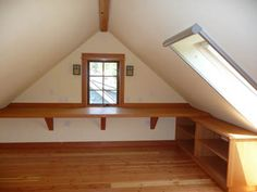 gable attic ideas | lapyere stair from bedroom to attic