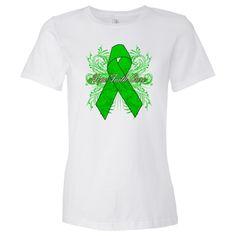 TBI Hope Faith Cure Awareness Ribbon Women's Fashion T-Shirts  #TBI #HopeFaithCure #TBIAwareness