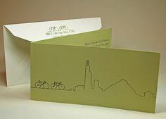 Chicago Art Institute Modern Wing Wedding Invitation by ericksondesign, via Flickr