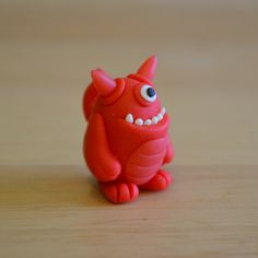 Mini Monster - Otto - Vermillion by MiniMonsterCo on Etsy