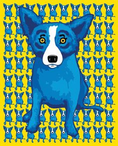 Blue Dog -George Rodrigue this artist is from New Orleans and ...