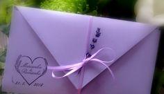 Levanduľová obálka  Lavendel Umschlag