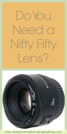 The Nifty 50 refers to a prime lens which is considered a portrait lens on most entry level DLSRs such as the Canon rebel series or the Nikon or Sony Alpha range. Camera Tips, Camera Hacks, Photography Gear, Photography For Beginners, Prime Lens, Do You Need, Entry Level, Taking Pictures, Nifty