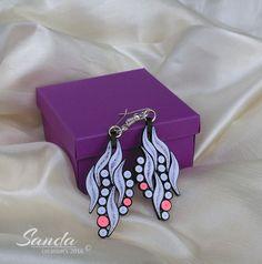 earrings by Sanda Dragotă / 4,2cm / 2,0cm /