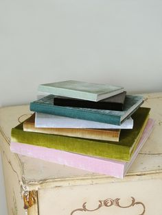velvet photo albums - so pretty but too pricey. .. maybe I could DIY