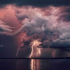 love photography light Cool sky vintage Grunge night water dark heart blue pink purple clouds nature sea lightning see yoursummerdreamz Beautiful Sky, Beautiful World, Beautiful Places, Pretty Sky, Beautiful Disaster, Beautiful Scenery, Beautiful Landscapes, All Nature, Amazing Nature