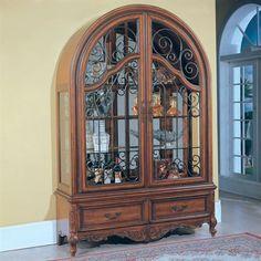 Parker House GGRA#8000-2 Grand Manor Granada TwoPiece Collectors Cabinet Curio, Walnut