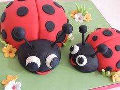 Ladybirds  Cake by ShereensCakes