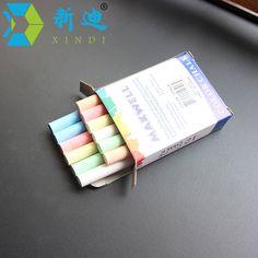 12 개/몫 먼지없는 분필 펜 그리기 크레용 대한 칠판 6 색 고정 사무실 학교 용품 액세서리 tizas 포함 escolar
