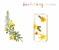 Iphone 6/ 6S Pressed Flower Iphone Case / Preserved Flowers /