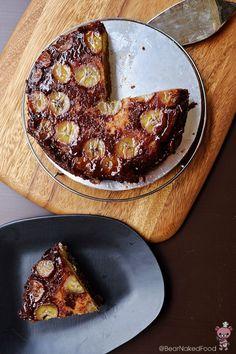 ... for the cake.* Nutella Banana Upside down Cake - Bear Naked Food